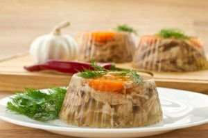 aspic with garlic