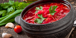 borsch and garlic