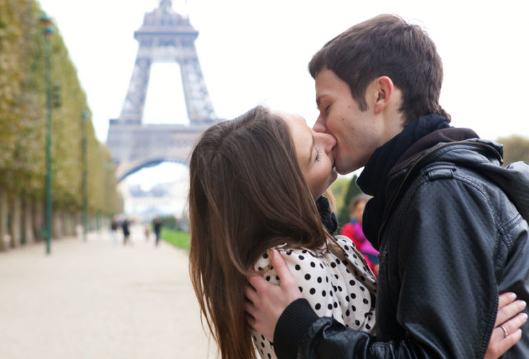 French-kissing