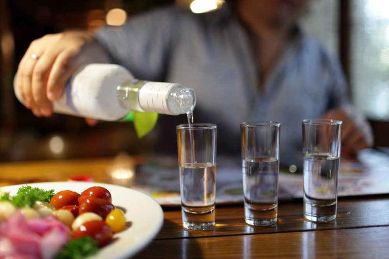 vodka drinking